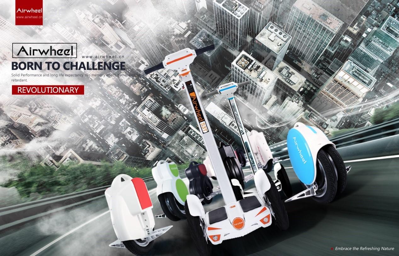 녹색 교통: Airwheel 전기 자기평형 외발 자전거 자체 전기 외 발 자전거 타다 균형