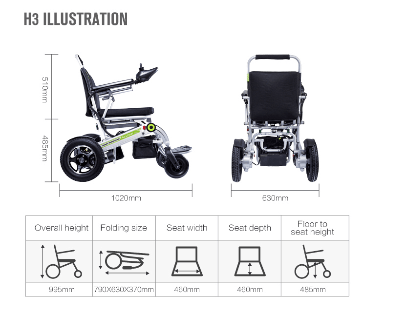 wheelchair Airwheel H3