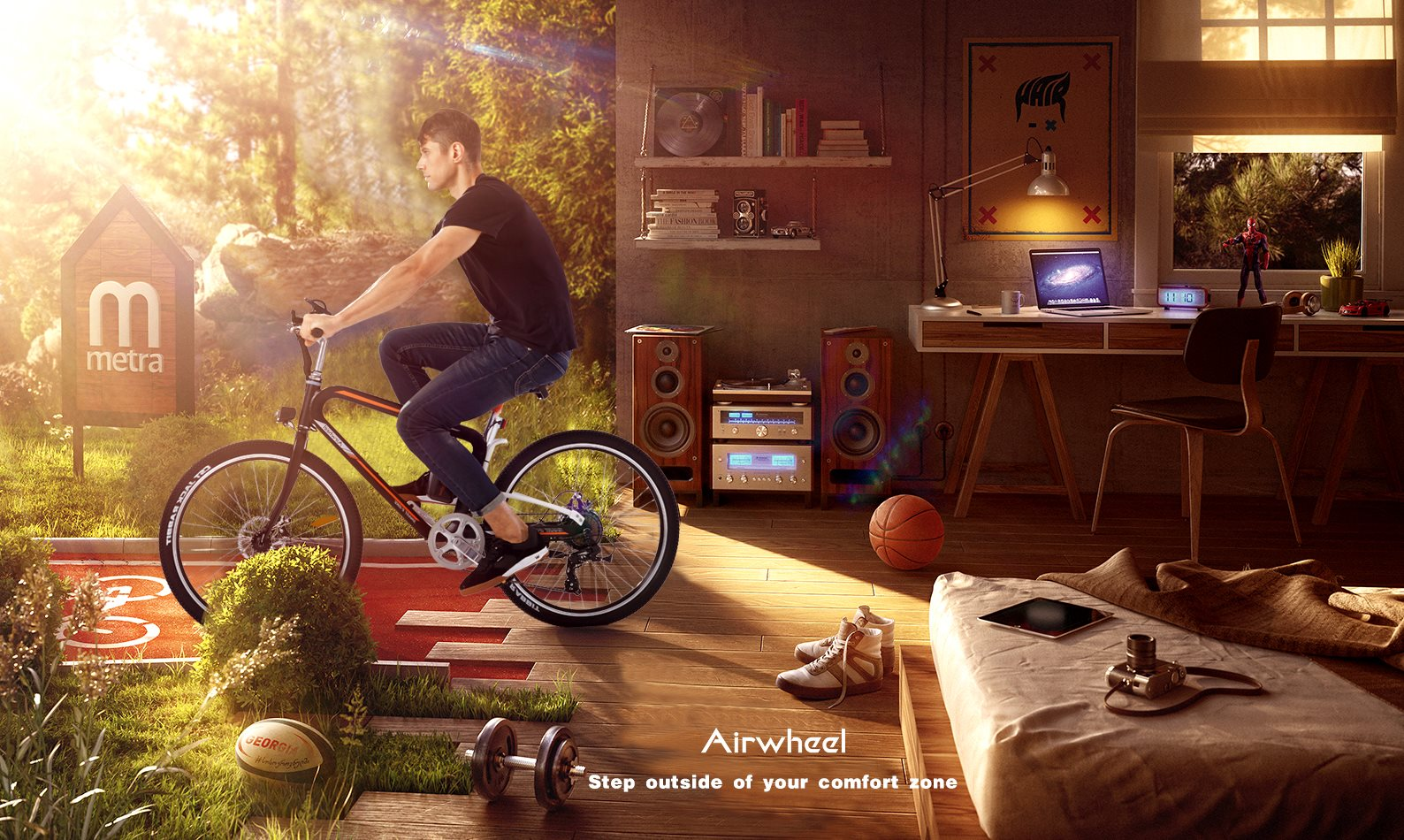 Airwheel R8 smart mountain electric bike