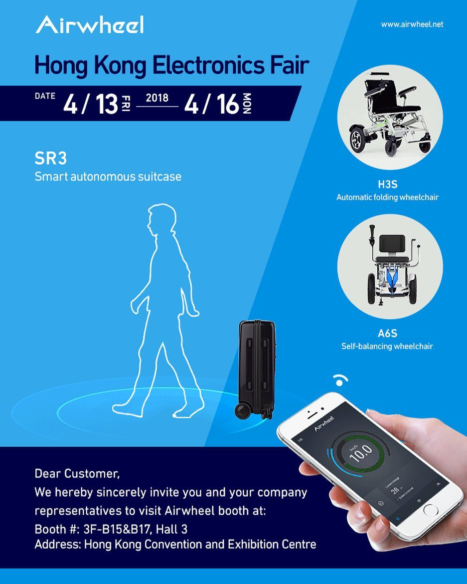 Airwheel SR5 auto-following suitcase