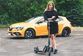 Airwheel Z5 standing up folding electric scooter.