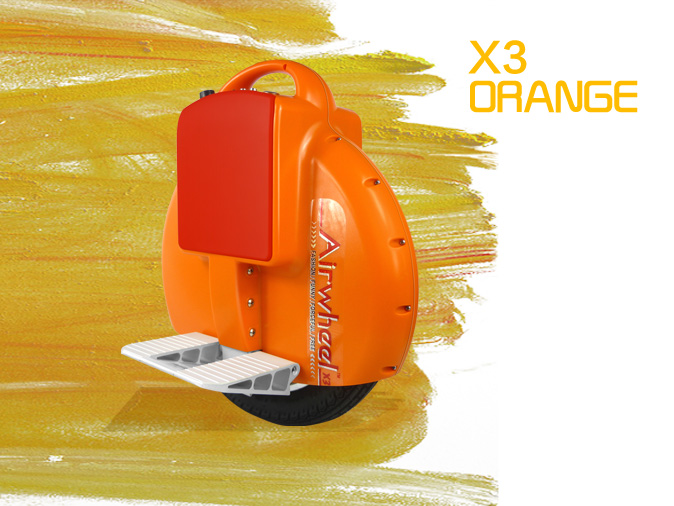 electric unicycle X3 Orange Limited