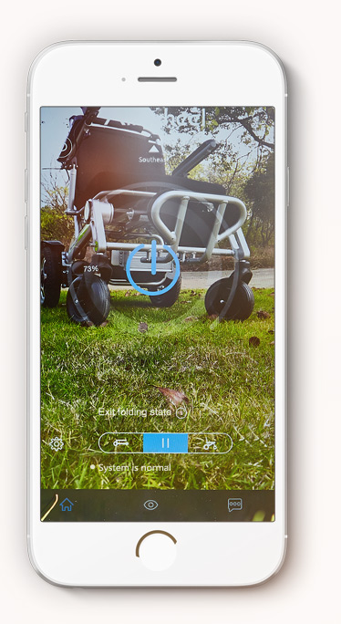 Airwheel H3S folding wheelchair APP