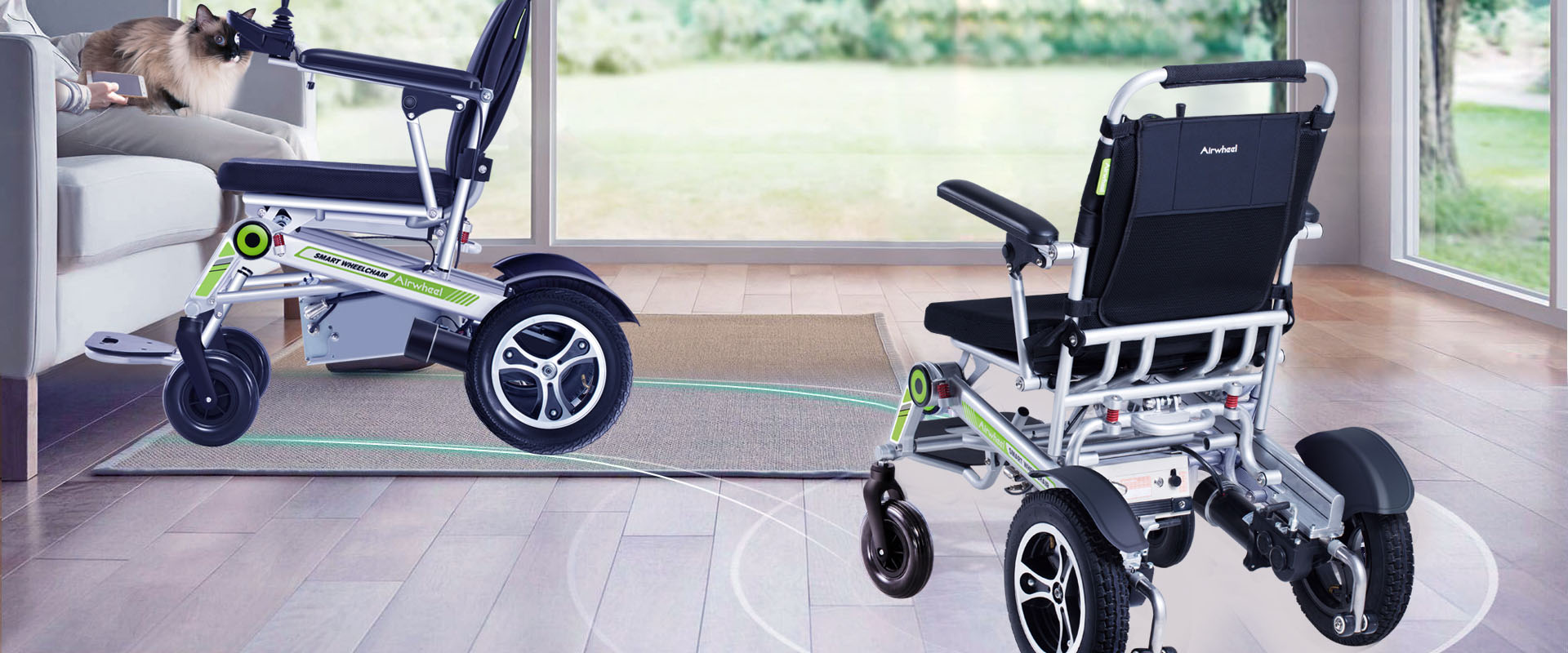Airwheel H3S auto-following wheelchair