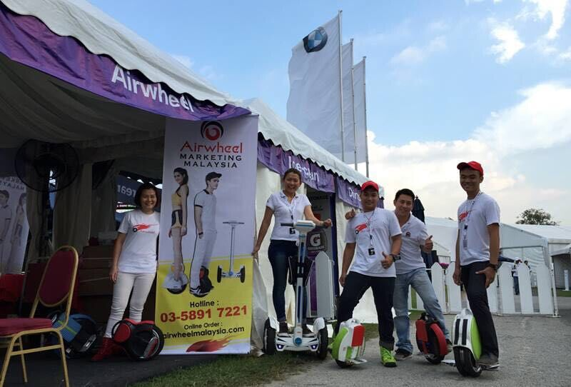 Airwheel Marketing Malaysia Electric Scooter Distributor Performed BMW Malaysian Open