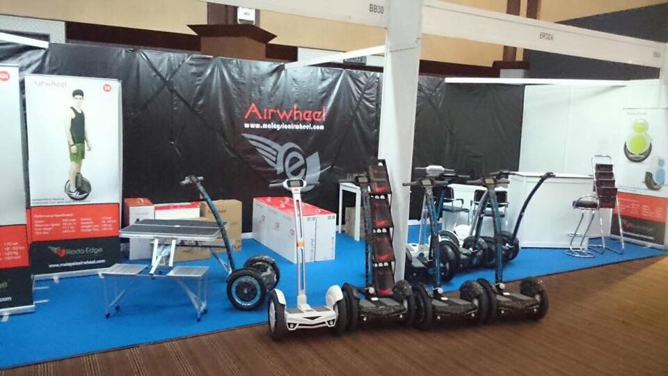 Airwheel scooter electric made a hit in Langkawi International Maritime and Aerospace Exhibition (LIMA) in Malaysia