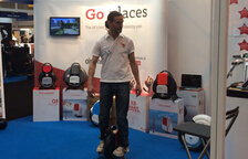 Airwheel d'auto-bilanciamento Scooter era avvolto in Gadget Show Live Held in Inghilterra