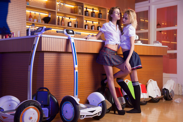 A safe and reliable ride of Airwheel electric self-balancing scooter