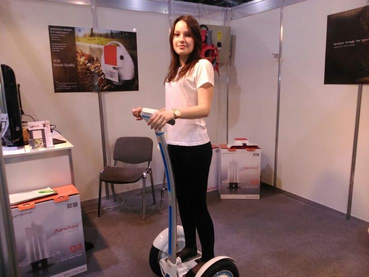 Airwheel Held Up Display at Construma Exhibition 2015, Budapest