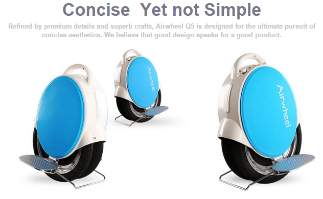 Airwheel Electric Unicycle Q5 Bring You on the Path to the Minimalist Lifestyle