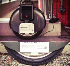 Since I have neither any technical background nor manual dexterity, I bought myself an Airwheel electric unicycle X8 after I searched online.