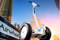 Beije a luz do sol com Airwheel S5 duas rodas inteligentes Scooters.