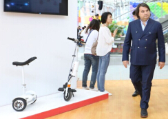 Numerous intelligent electric scooter lovers from many countries have come here to witness the emerge of the latest self-balancing scooters.