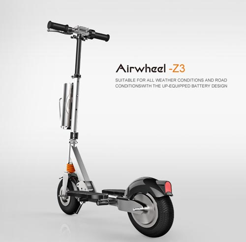 And the up-equipped battery group makes Airwheel Z3 suitable for all weather conditions.