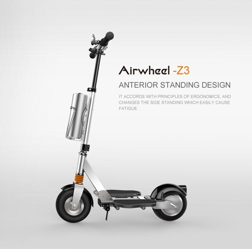 At this Christmas Airwheel Z3 electric scooter can be a gift just as children want.