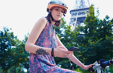 Airwheel C5 Bicycle helmet invention
