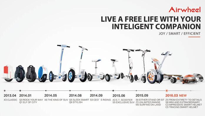 Among the new arrivals, Airwheel S8 and Z5 2 wheel electric scooters are worth noting for the following reasons.