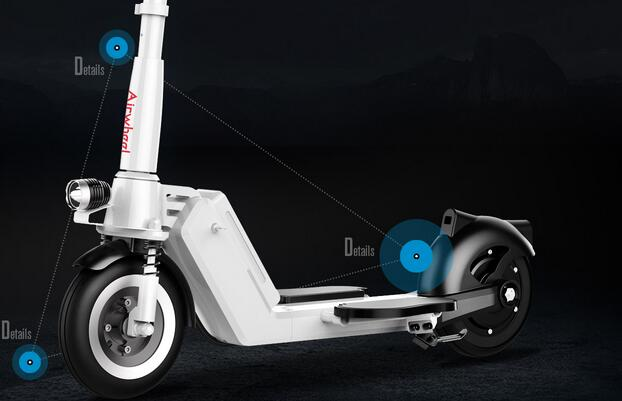 It worth noting that Airwheel S8 is equipped with pneumatic tyres and a smooth and stable riding experience is guaranteed.