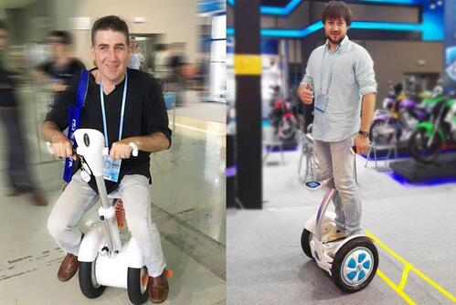 From the market feedback, Airwheel has released Airwheel S6 and S8 that integrates the sit-on mode and the stand-on mode.