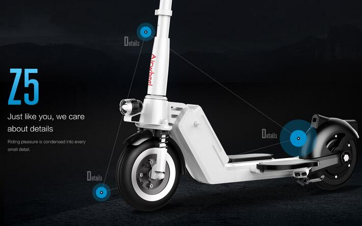 Purchasers swoon over Airwheel Z5 standing up electric scooter.