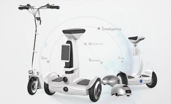Airwheel new products of electric self-balancing scooters are catching on to the public with its uniqueness.