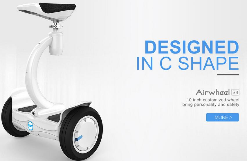 In a word, the design of Airwheel S8 is fashionable and competitive.