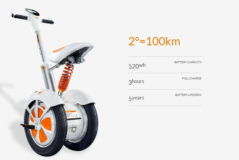 The spring in Airwheel A3 and the suspension in Airwheel A3 are also the devices for buffer against the impact.