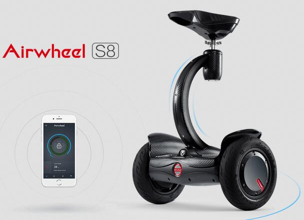 Airwheel S8 2-wheeled electric scooter is versatile.