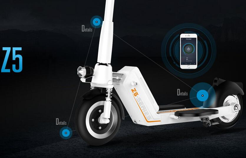 Earlier in 2016, Airwheel has released a new arrival-Z5 foldable electric scooter, which attracts many office ladies.