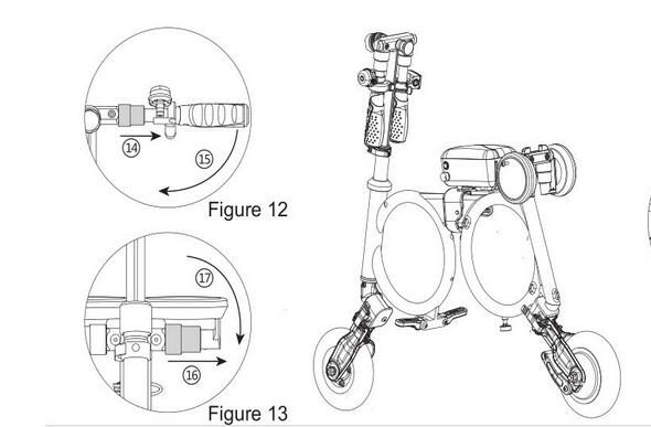 The former passage has illustrated how to unfold Airwheel E3.