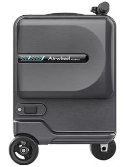 The riding luggage is lightweight, and can easily convert from motor to pull-behind use.