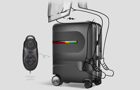 Airwheel SL3 riding suitcase ,Control your direction by remote control handle like play games