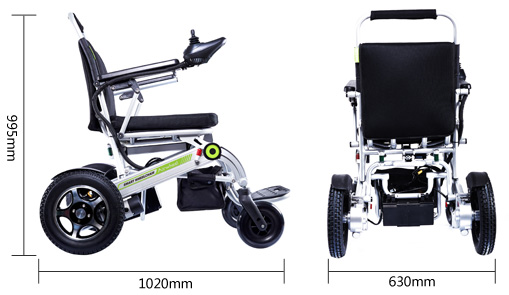 lightweight motorized wheelchair portable