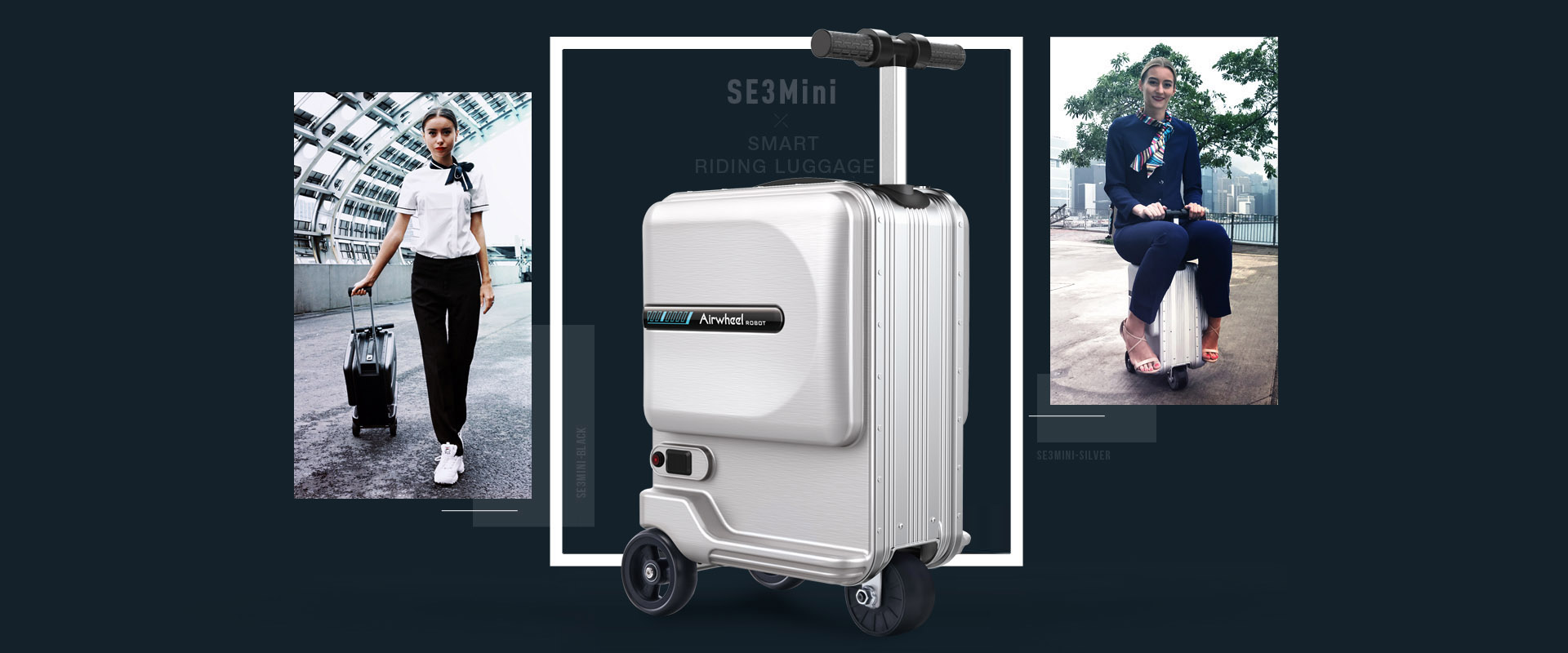 airwheel se3mini riding luggage