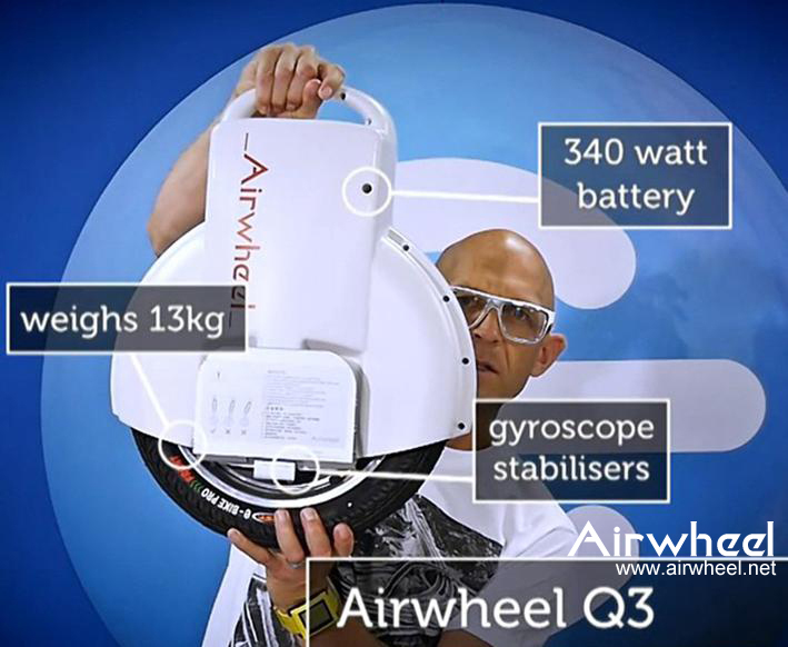 promo code a3fc1 8ca41 Generally regular electric unicycle weighs roughly 10kg, and Airwheel Q5  weighs 12kg with its twin-wheel design, which is still easy to carry around  for ...