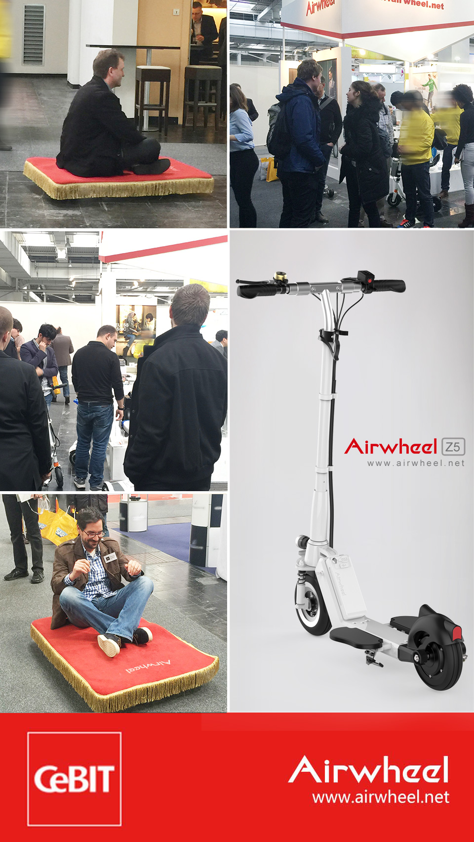Airwheel Z5 standing up scooter