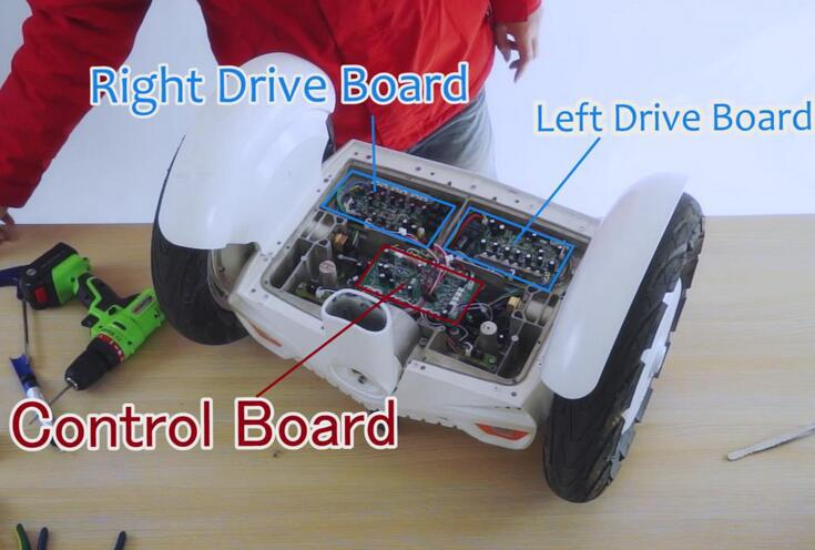 Airwheel S3 changing control board and drive board