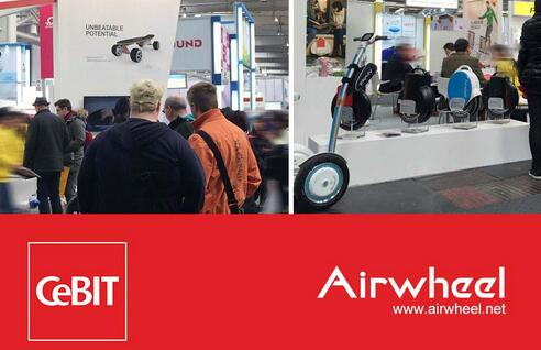 Airwheel new product release conference: wheeled robot makes its first appearance on CeBIT 2016